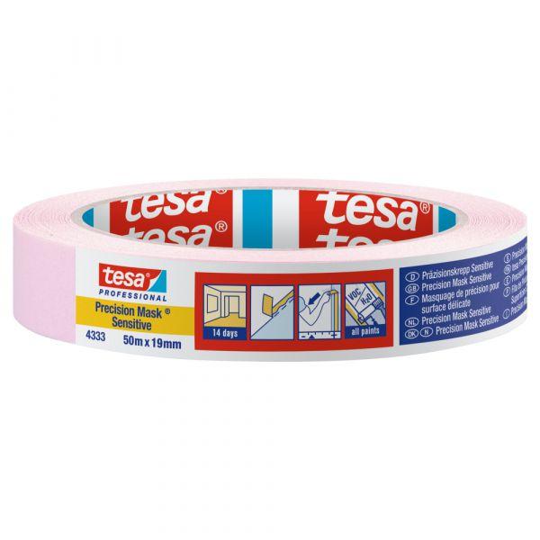 tesa® Präzisionskrepp® Sensitiv 4333 – 50 Meter, Hellrosa