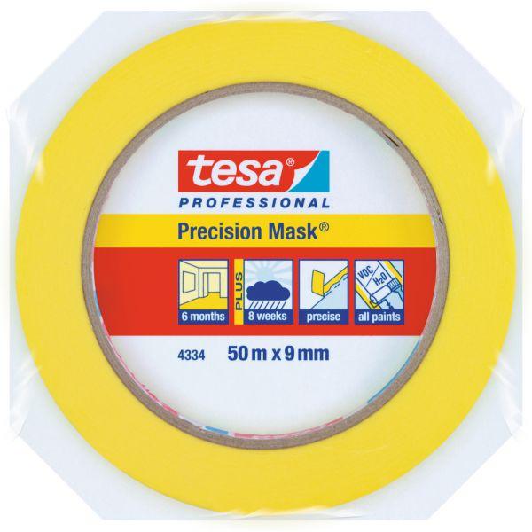 tesa® Präzisionskrepp® Plus 4334 – 50 Meter, Gelb