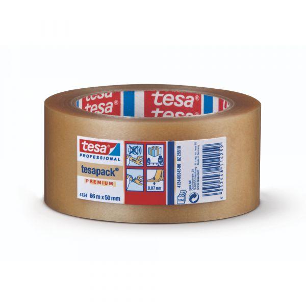 tesa® Premium PVC-Verpackungsklebeband 4124 – 66m x 50mm