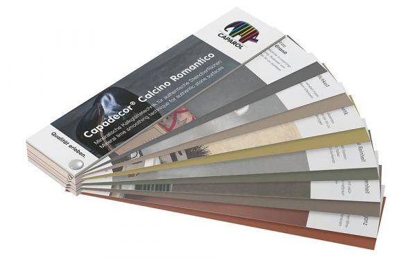 Caparol Capadecor Calcino Romantico Farbfächer mit 30 Farbtönen