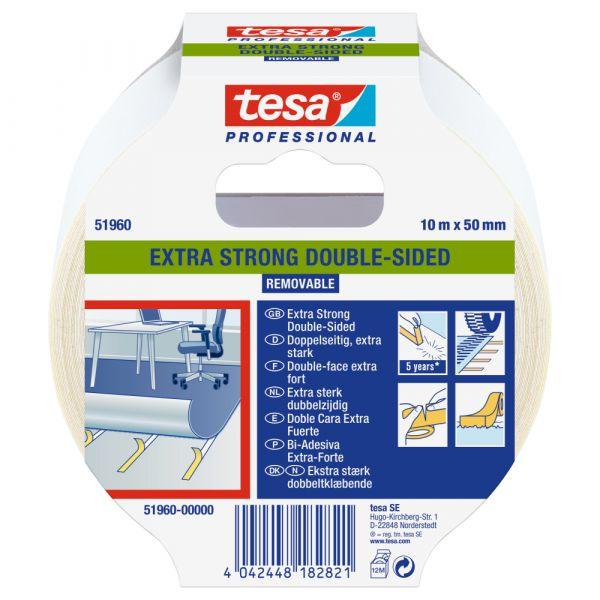 tesa® tesafix® Profi Verlegeband 51960 – 50mm, Farblos