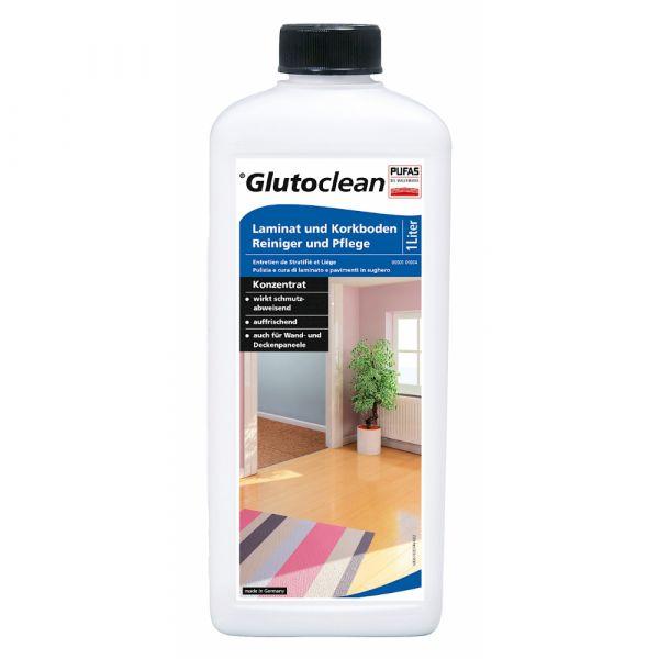 Glutoclean Laminat und Korkboden Reiniger und Pflege – 1 Liter