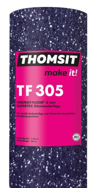 Thomsit TF 305 Thomsit-Floor® SUPERTEX Dämmunterlage 5 mm – 24m x 1,25m
