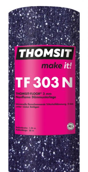 Thomsit TF 303 N Thomsit-Floor® Nonflame Dämmunterlage 3 mm – 36m x 1,25m