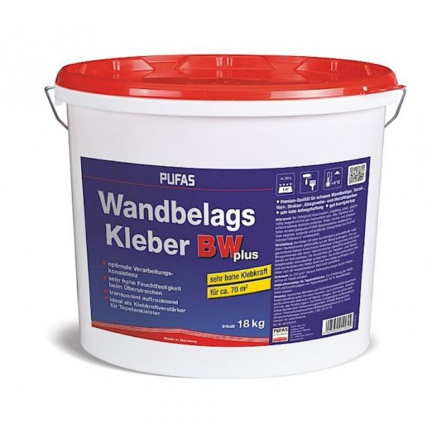 Pufas Wandbelags-Kleber BW plus