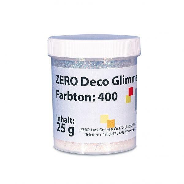Zero Deco Glimmer 100 Holographic-Silber grob – 25g