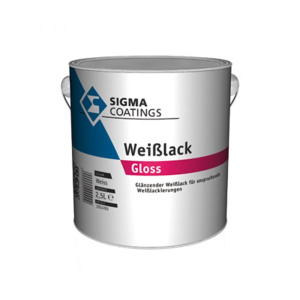SIGMA Weißlack gloss – 2,5 Liter