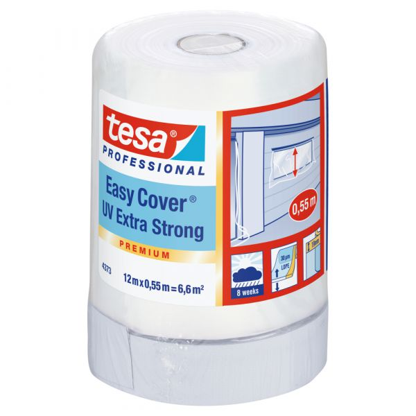 tesa® Easy Cover® UV Extra Stark 4373 – 12 Meter, Weiss