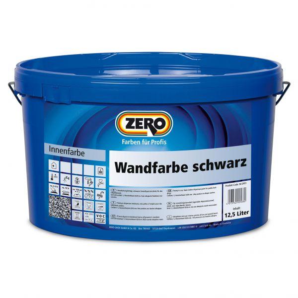 Zero Wandfarbe Schwarz – 12,5 Liter
