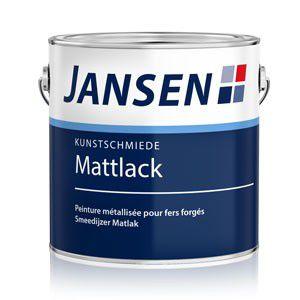 Jansen Kunstschmiede- Mattlack – Graphitschwarz, bürstbar