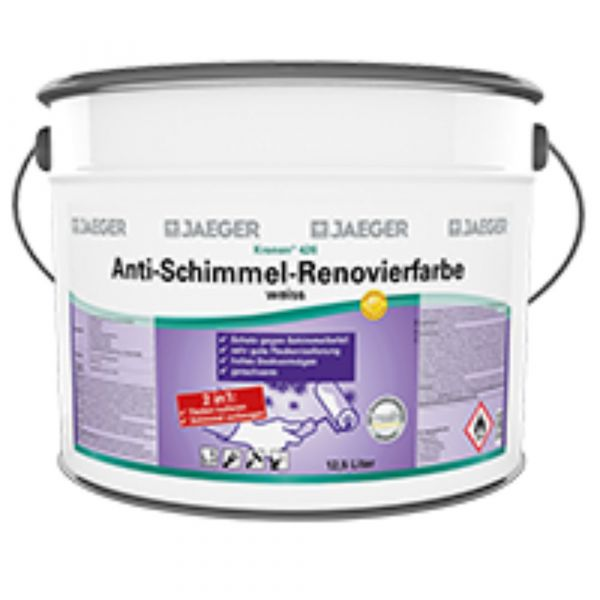 Jaeger 426 Kronen® Anti-Schimmel-Renovierfarbe – 2,5 Liter