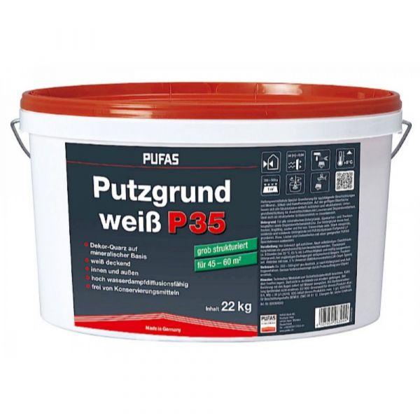 Pufas Putzgrund weiß P35 grob